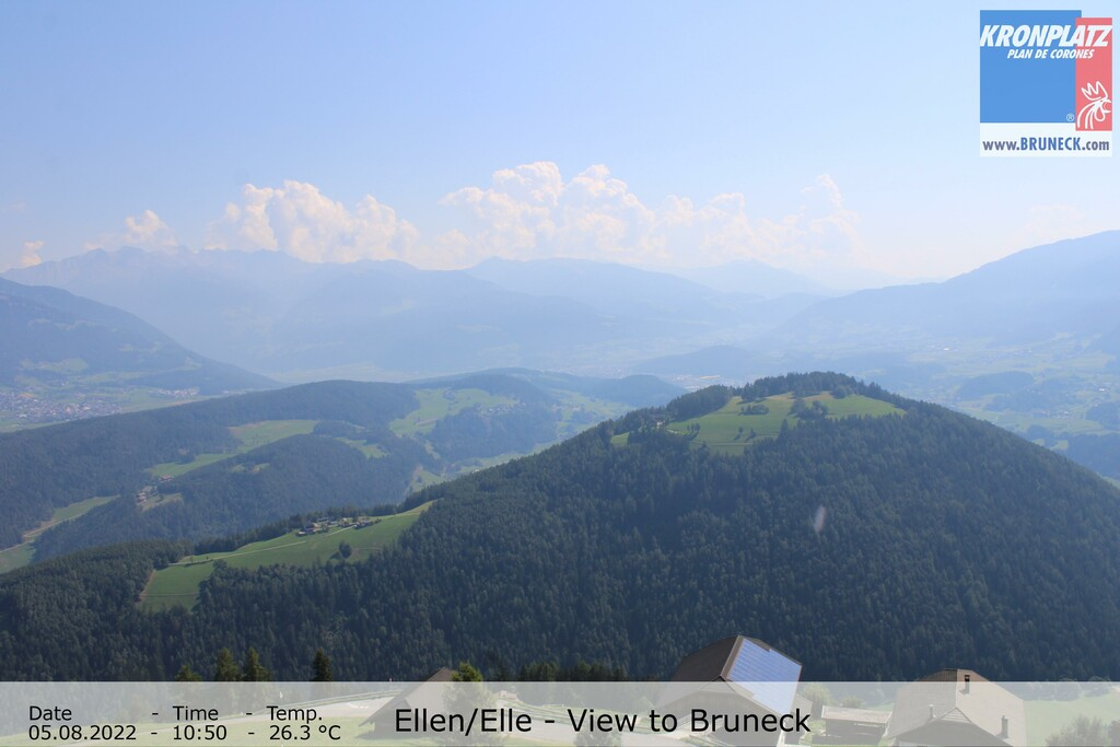 Your view from Berggasthof Häusler in Ellen to Bruneck.