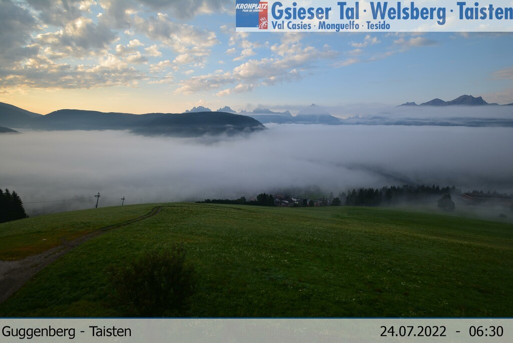 Position of the webcam: Guggenberg in Taisten