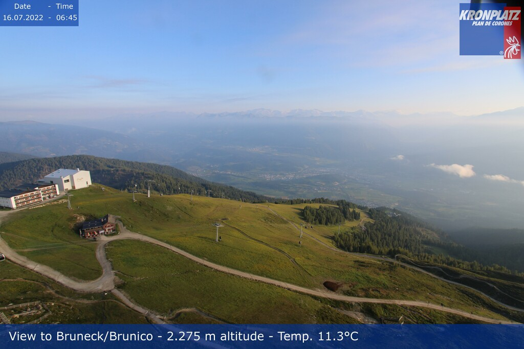 Webcam Plan De Corones-Cima direzione Brunico
