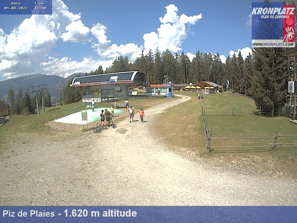 Webcam con vista sul Piz del Plaies