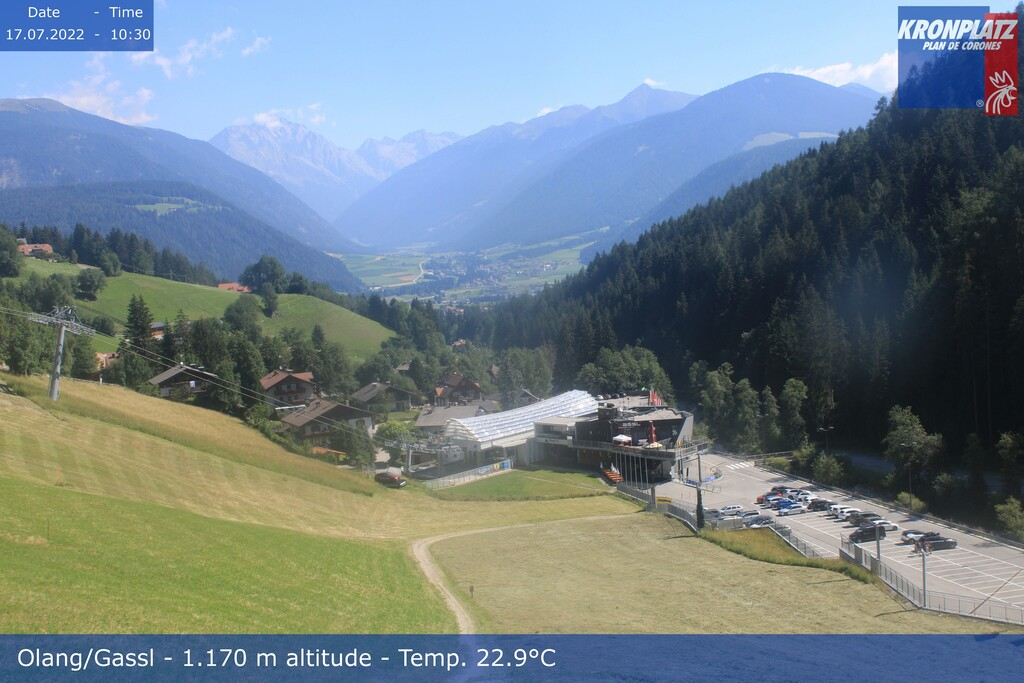 Webcam valley station Kronplatz